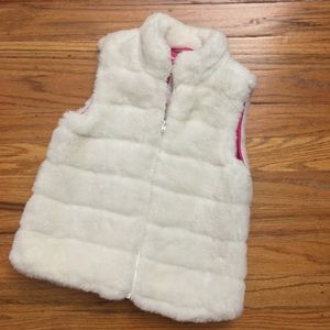 Janie and Jack Toddler Girl Faux Fur Vest